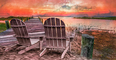 Photograph - Sunset Colors Panorama by Debra and Dave Vanderlaan