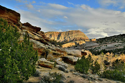 Photograph - Sunset Coming To East Side Of Colorado National Monumentr by Ray Mathis