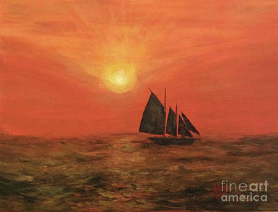 Sports Paintings - Sunset Cruise by Aicy Karbstein