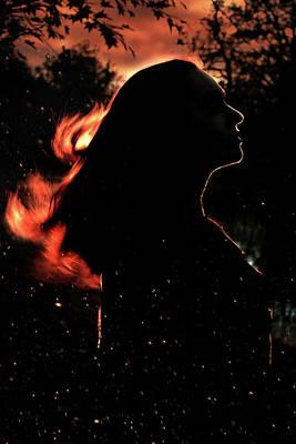 Sunset Digital Art - Sunset Fire by Cambion Art