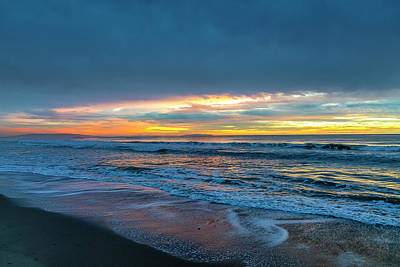 Photograph - Sunset Fire Over Catalina Island 2 by Gene Parks
