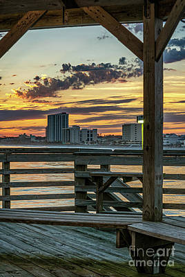 Photograph - Sunset From Cherry Grove Pier by David Smith
