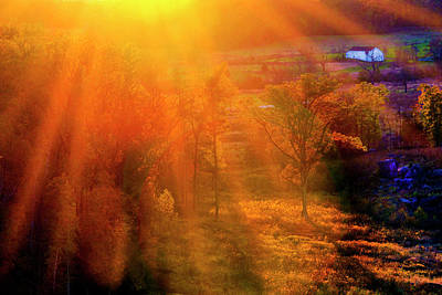 Photograph - Sunset From Little Round Top by Paul W Faust - Impressions of Light