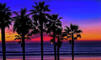 Robert Bellomy Royalty-Free and Rights-Managed Images - Sunset from the Ocean Park Inn by Robert Bellomy