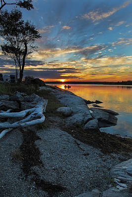 Photograph - Sunset From Waters Edge by Mike Mcquade