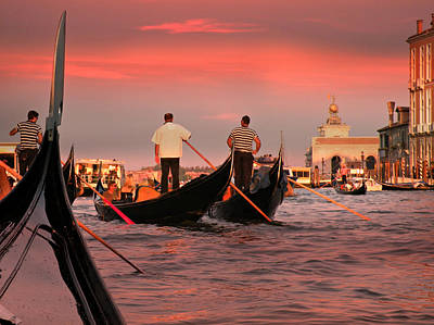 Photograph - Sunset Gondolas  by Micki Findlay