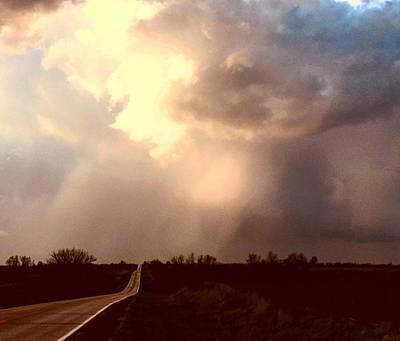 Photograph - Sunset Illuminated Rain by Michael Oceanofwisdom Bidwell