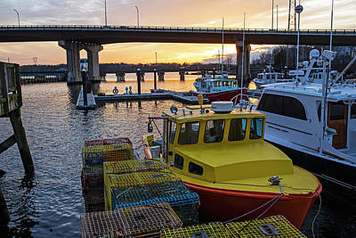 Photograph - Sunset In Beverly Harbor Beverly Ma Lobster Traps by Toby McGuire