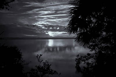 Photograph - Sunset In Black And White by Tom Singleton