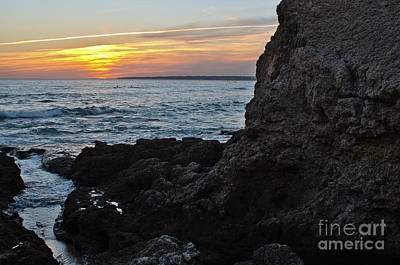 Photograph - Sunset In Gale Beach. Coast Of Algarve 2 by Angelo DeVal