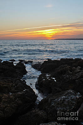Photograph - Sunset In Gale Beach. Coast Of Algarve 3 by Angelo DeVal