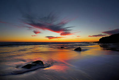 Photograph - Sunset In Malibu by John Rodrigues