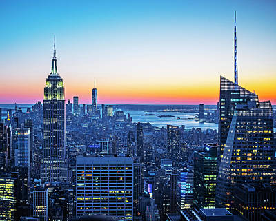 Photograph - Sunset In New York City New York Ny by Toby McGuire