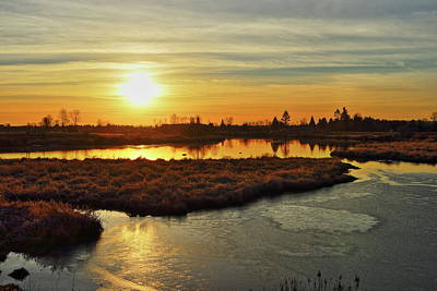 Photograph - Sunset In Pitt Meadows by Hagen Pflueger