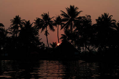 Kerala Photograph - Sunset In The Backwaters Of Kerala by Picture Taken By Christian Haugen Www.christianhaugen.com