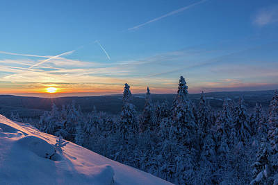Photograph - sunset in the Harz National Park, Germany by Andreas Levi