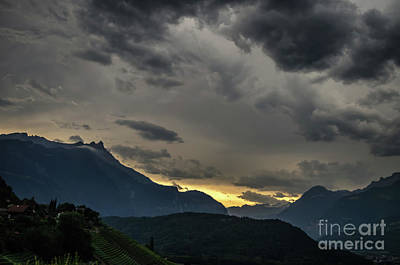 Photograph - Sunset In The Montains by Michelle Meenawong