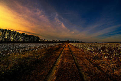 Photograph - Sunset In The Twin Fields by John Harding