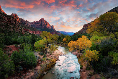 Photograph - Sunset In Zion  by Michael Ash