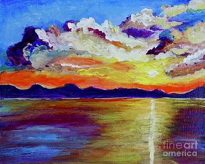 Painting - Sunset by Jacqueline Athmann