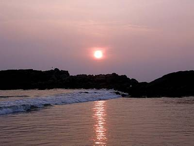 Kerala Photograph - Sunset  Kovalam Beach Kerala - India by Balaji Chennai