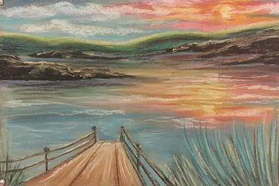 Pastel - Sunset Lake by Lisa Bunsey