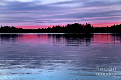 Photograph - Sunset Lake Nipissing Ontario 2 by Elaine Manley