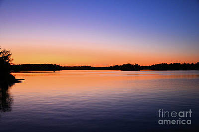 Photograph - Sunset Lake Nipissing Ontario 3 by Elaine Manley
