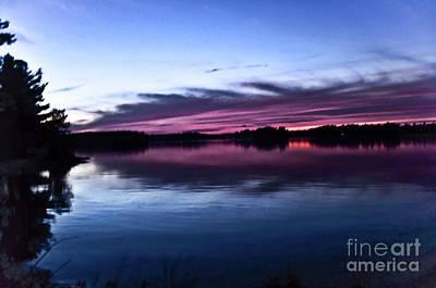 Photograph - Sunset Lake Nipissing Ontario 4 by Elaine Manley