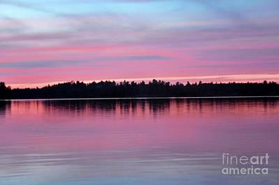 Photograph - Sunset Lake Nipissing Ontario by Elaine Manley