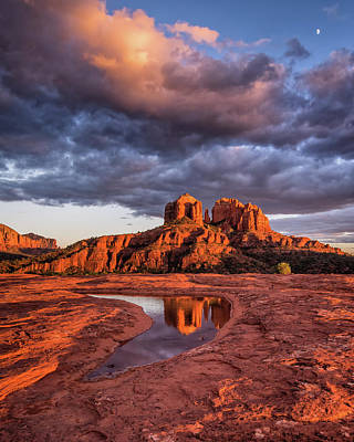 Photograph - Sunset Light On Cathedral Rock by William Christiansen