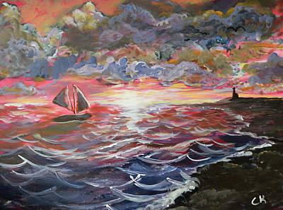 Sunset Of The Sea Original