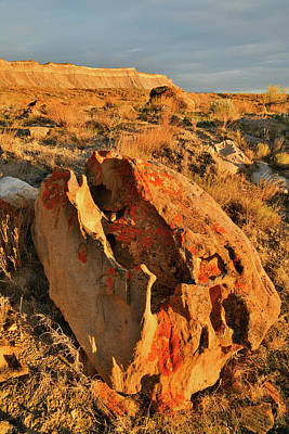 Photograph - Sunset On Beautiful Boulder At Book Cliffs by Ray Mathis
