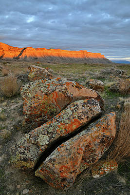 Photograph - Sunset On Book Cliffs In Grand Junction by Ray Mathis
