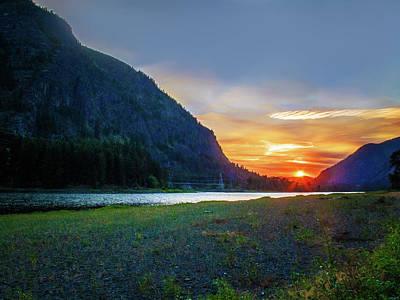 Photograph - Sunset On Clark Fork by David Heilman