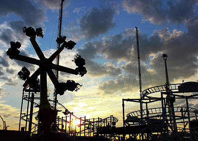 Photograph - Sunset On Coney Island by Geraldine Gracia