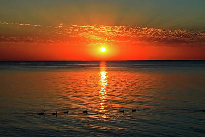 Photograph - Sunset On Green Bay by Dawn Richards