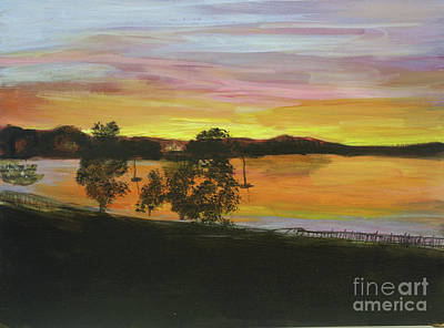 Painting - Sunset On Lake Memphremagog In Newport by Donna Walsh