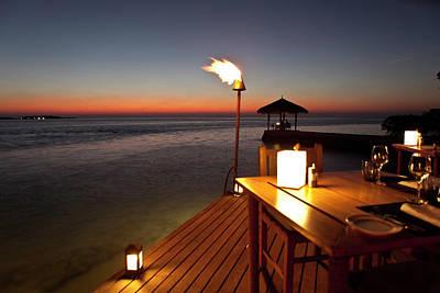 Photograph - Sunset On Maldives by Thomasfluegge