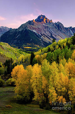 Photograph - Sunset On Mt Sneffels by Ronda Kimbrow