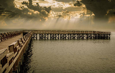 Photograph - Sunset On Pier by Dan Urban
