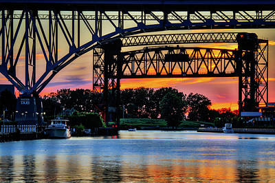 Photograph - Sunset On The Cuyahoga by Stewart Helberg