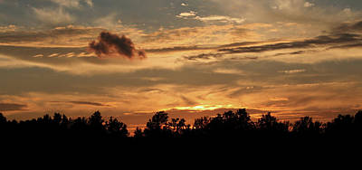 Photograph - Sunset On The Farm by Karen Harrison