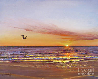 Painting - Sunset on the Gulf by Joe Mandrick