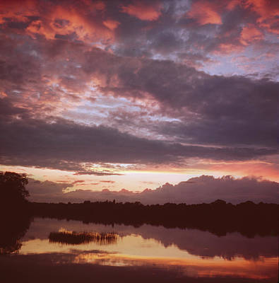 Photograph - Sunset On The Lake by Kenneth Rittener