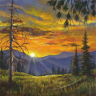 Painting - Sunset On The Meadow by Kim Lockman