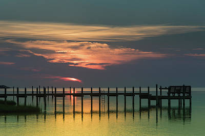 Vintage Pink Cadillac - Sunset on the Outer Banks by Anthony Doudt