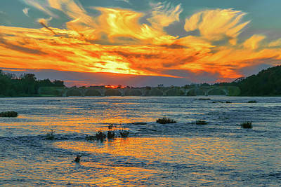 Photograph - Sunset On The River  by Richard Kopchock