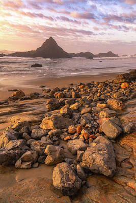 Photograph - Sunset On The Rocks by Darren White
