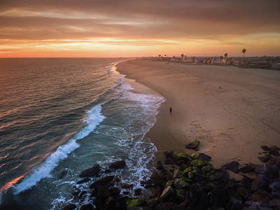 Photograph - Sunset On The Rocks by Seascaping Photography